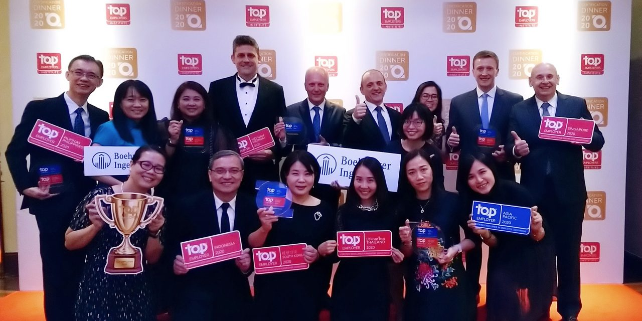 Boehringer Ingelheim recognized as Top Employer 2020  in South East Asia and South Korea