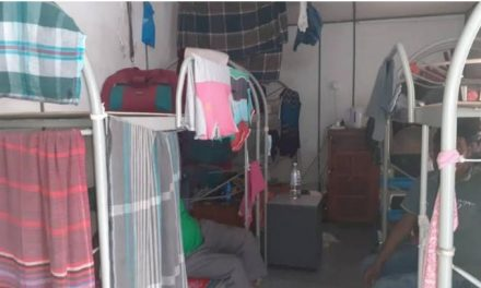 Cramped container hostel is home for more than 100 Bangladeshis